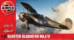THE GLOSTER GLADIATOR AIRFIX SCALE MODEL KIT