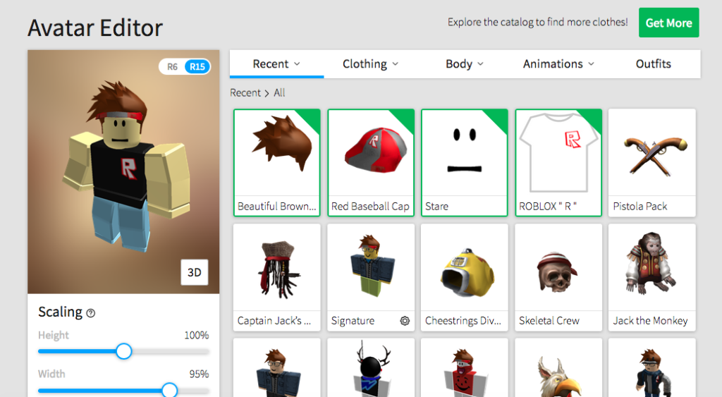 Roblox avatar